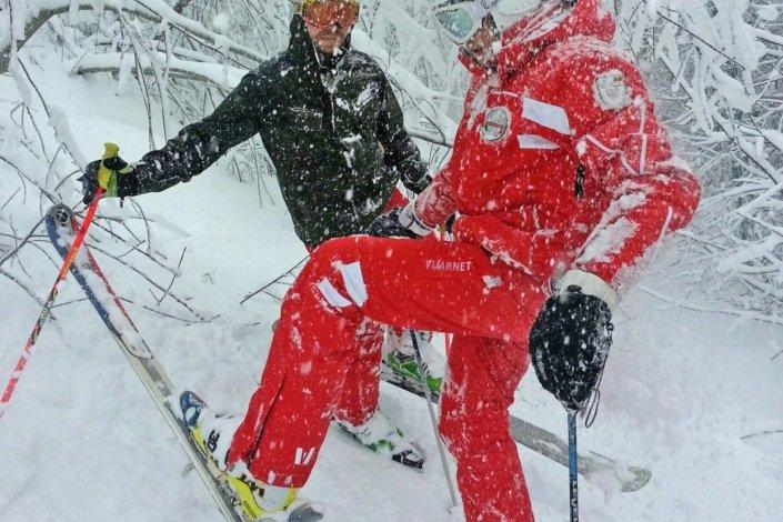 Maestri di sci sul Monte Amiata