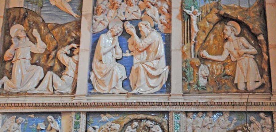 """Il Battesimo di Giovanni """"Ceramica Robiana Santa Fiora"""""""